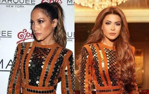 صور نجمات عربيات وأجنبيات إرتدين الفستان نفسه