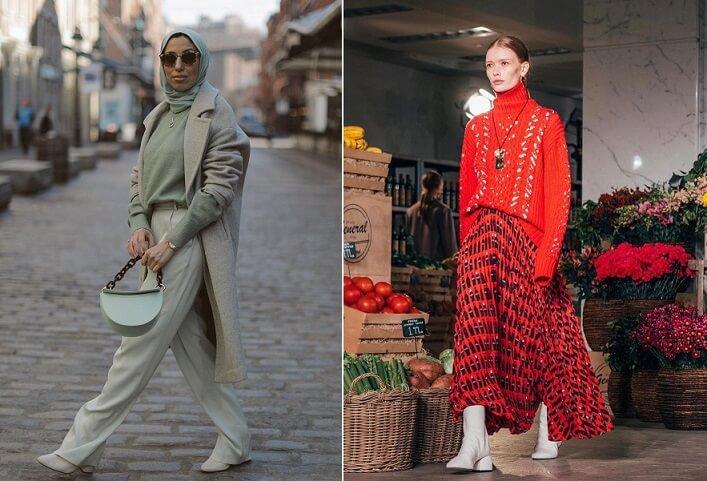 الوان موضة 2021 من إطلالات الشارع ومنصات عروض الأزياء
