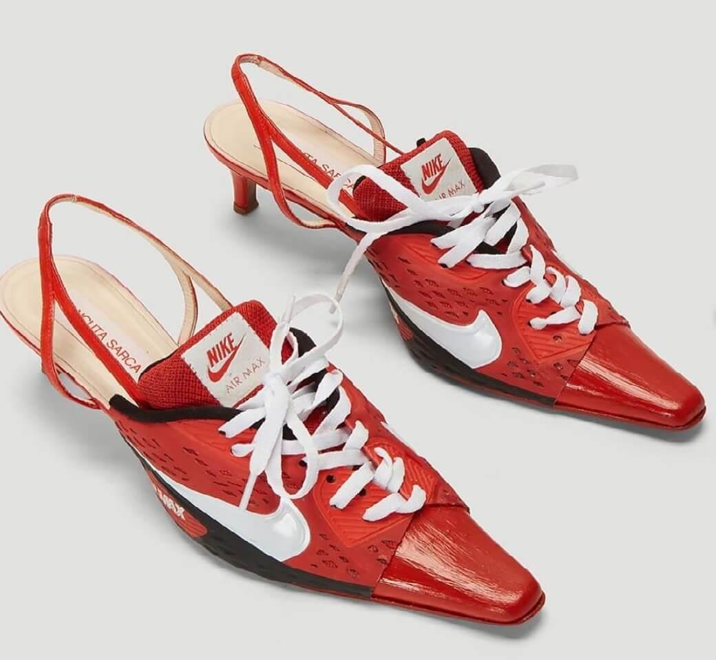 الحذاء الرياضي بالكعب يحل مكان الكعب العالي!