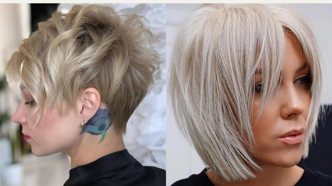 أجمل موديلات قصات شعر قصير 2021