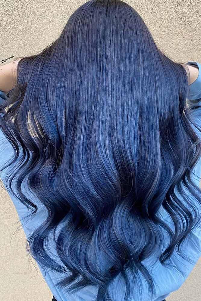 أجمل صبغات شعر لون ازرق بالصور