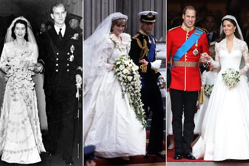 فساتين زفاف خيالية من أيام الملكة إليزابيت حتى اليوم