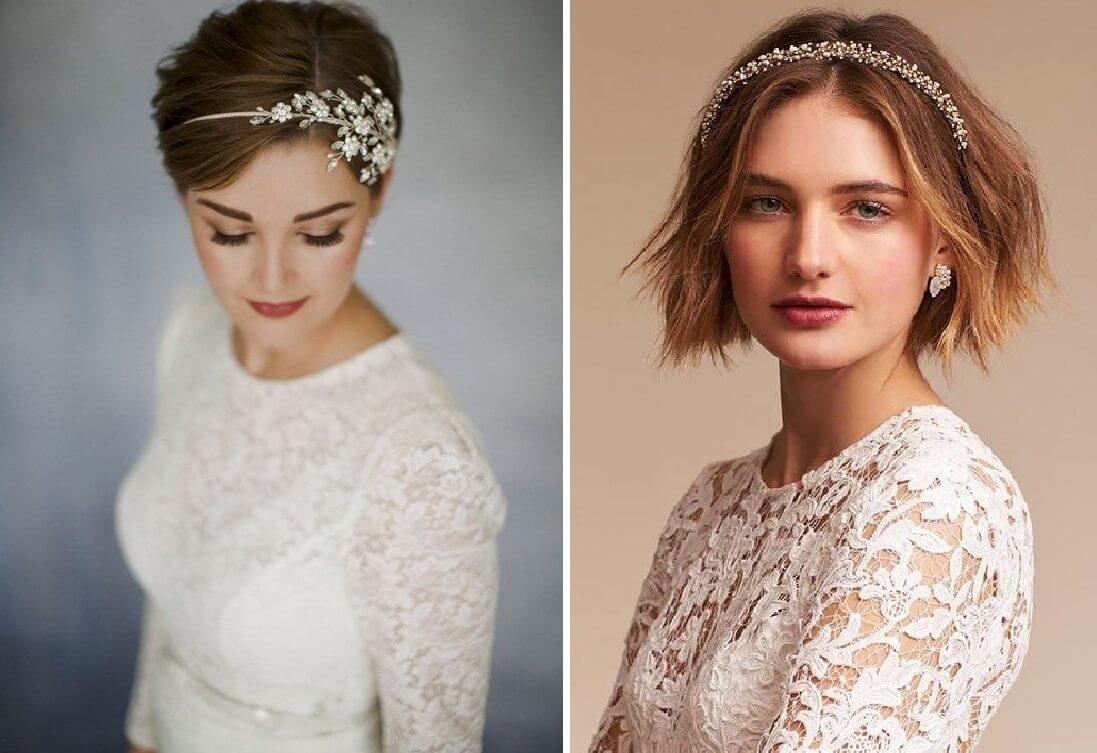 تسريحات شعر قصير للاعراس 2020