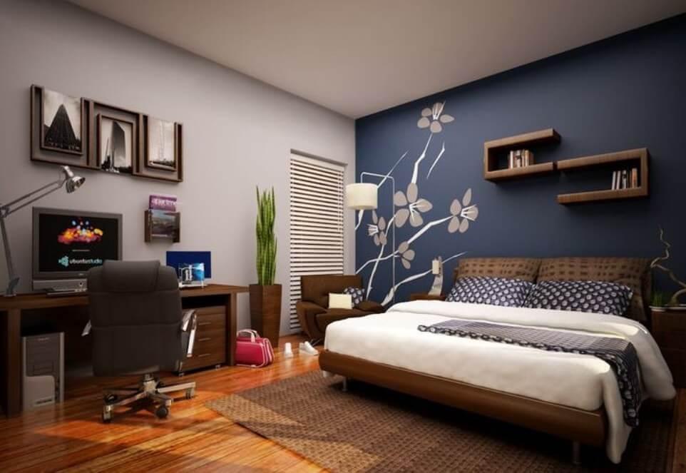اجمل الوان حوائط غرف النوم للعرائس بالصور