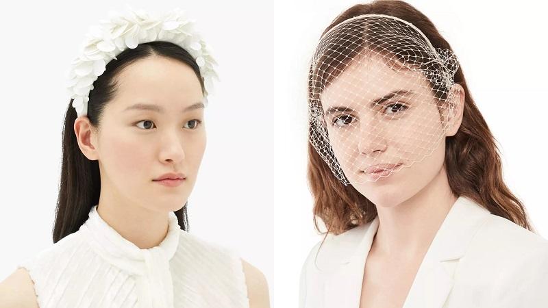 صيحات أكسسوارات الشعر لعروس 2021