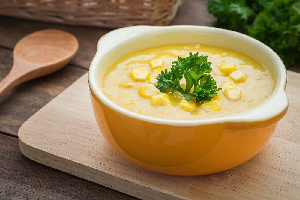 شوربة الذرة مع الجبنة