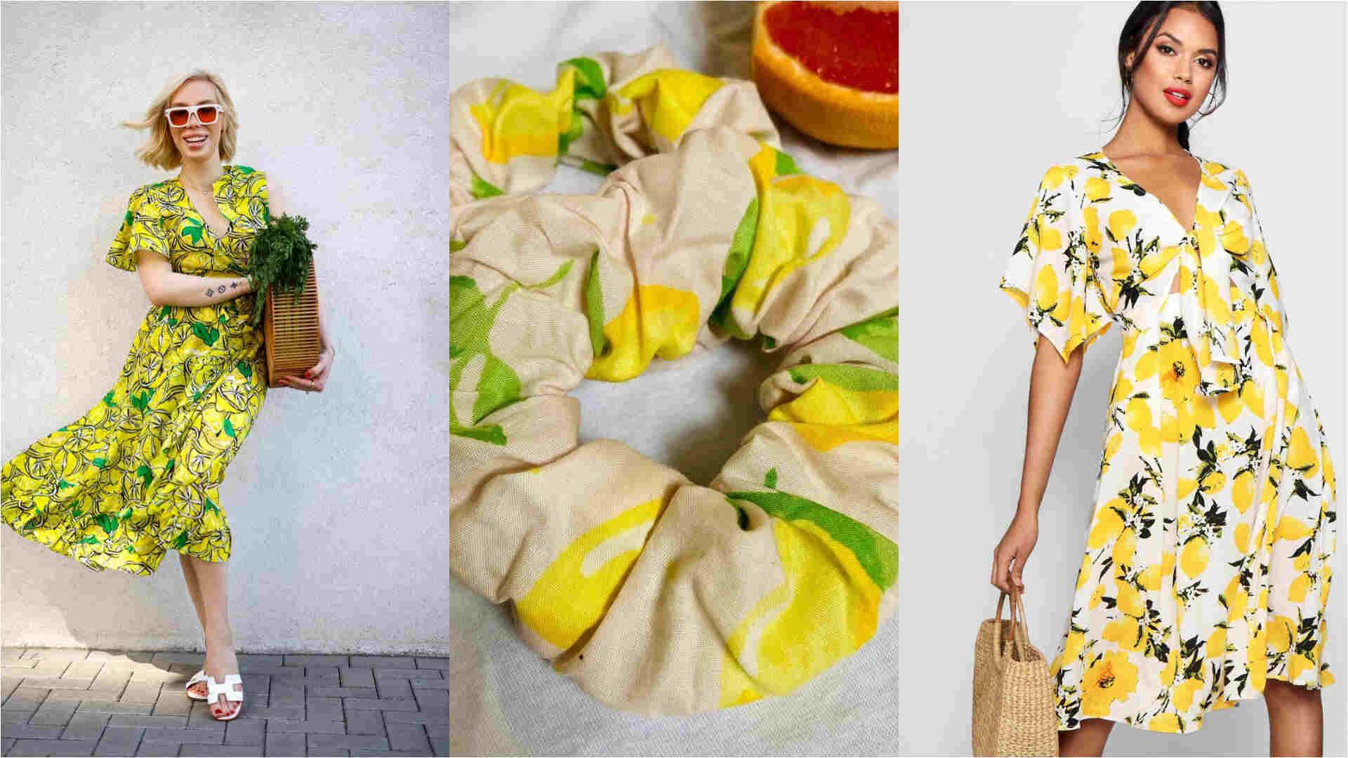 صيحة نقشة الليمون تزيّن الفساتين والسراويل وحتى الأكسسوارات